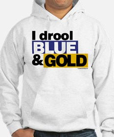 I Drool Blue and Gold Hoodie