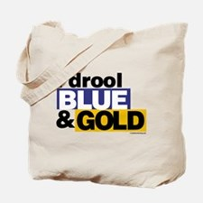 I Drool Blue and Gold Tote Bag