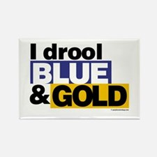 I Drool Blue and Gold Rectangle Magnet
