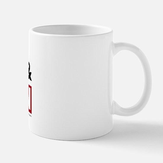 I Drool Orange and Maroon Mug
