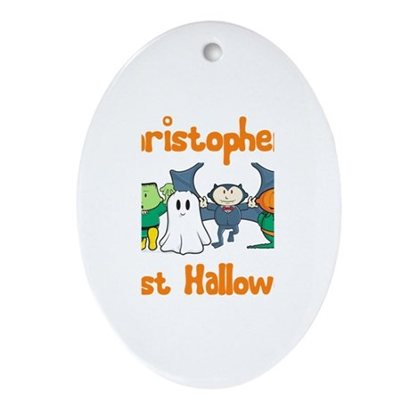 Christopher's First Halloween Oval Ornament