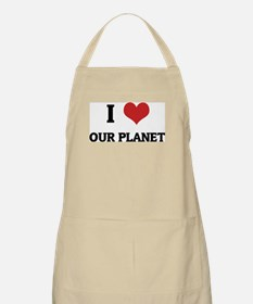 I Love Our Planet BBQ Apron