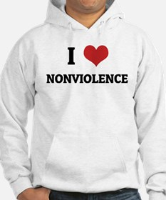 I Love Nonviolence Hoodie