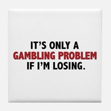"""Gambling Problem"" Tile Coaster"