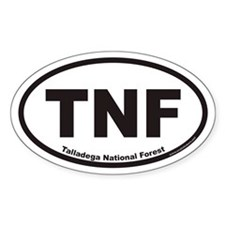 Talladega National Forest TNF Euro Oval Decal