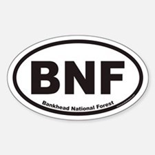 Bankhead National Forest BNF Euro Oval Decal