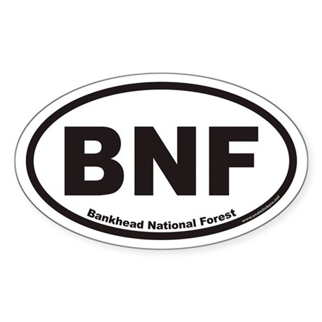 Bankhead National Forest BNF Euro Oval Sticker
