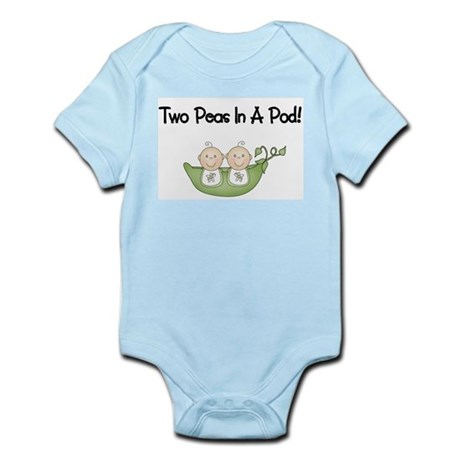 Two Peas In A Pod Twins Infant Bodysuit