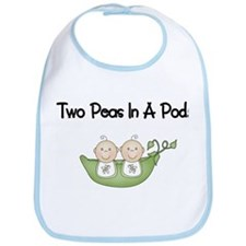Two Peas In A Pod Twins Bib
