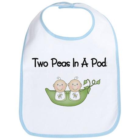 Two Peas In A Pod Twins Bib