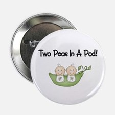 "Two Peas In A Pod Twins 2.25"" Button"