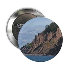 "Lake Ontario And Chimney Bluffs 2.25"" Button"