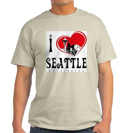 I Love Seattle Light T-Shirt