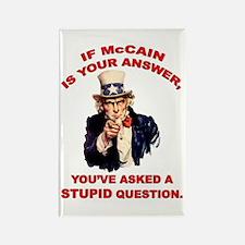 Uncle Sam: McCain = Stupid ? Rectangle Magnet