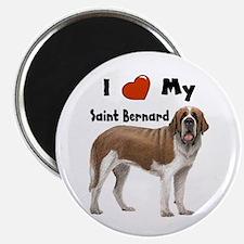 I Love My Saint Bernard Magnet