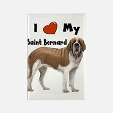I Love My Saint Bernard Rectangle Magnet
