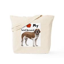 I Love My Saint Bernard Tote Bag