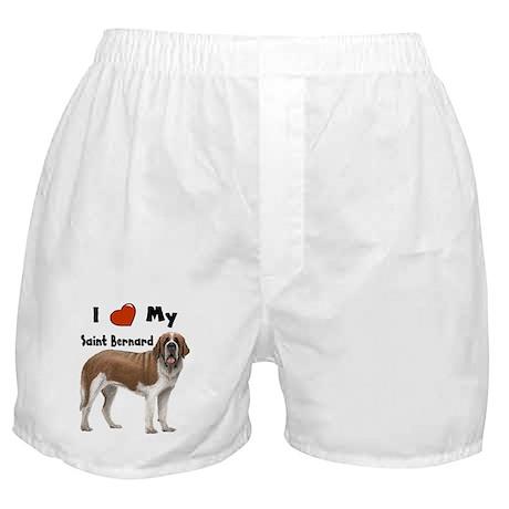 I Love My Saint Bernard Boxer Shorts