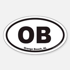 Orange Beach OB Euro Oval Decal