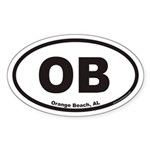 Orange Beach OB Euro Oval Sticker