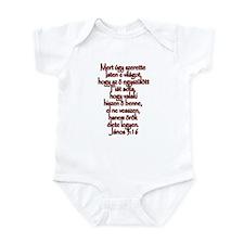 John 3:16 Hungarian Infant Bodysuit