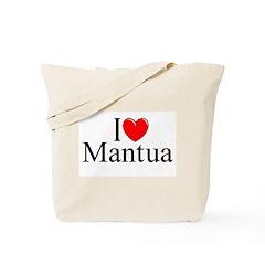 """I Love (Heart) Mantua"" Tote Bag"