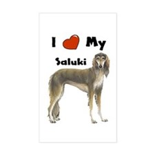 I Love My Saluki Rectangle Decal