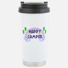 """Happy Camper"" Stainless Steel Travel Mug"