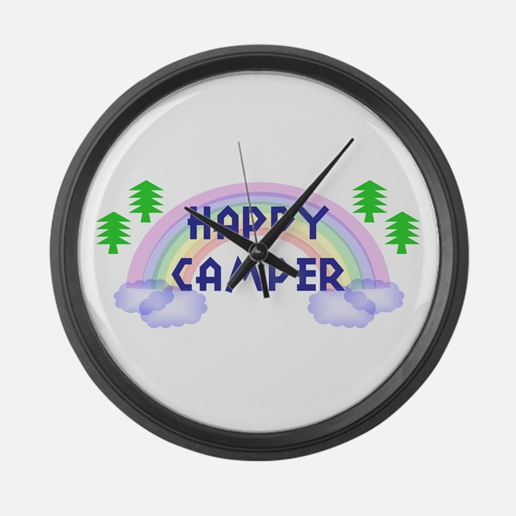 """Happy Camper"" Large Wall Clock"