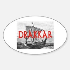 DRAKKAR (Tall Ship) Oval Decal