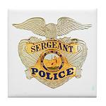 Police Sergeant Badge Tile Coaster