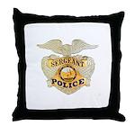 Police Sergeant Badge Throw Pillow