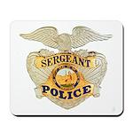 Police Sergeant Badge Mousepad