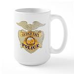 Police Sergeant Badge Large Mug