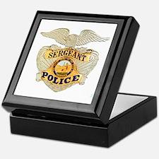 Police Sergeant Badge Keepsake Box