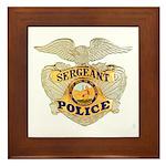Police Sergeant Badge Framed Tile