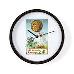 Hot Air Halloween Wall Clock