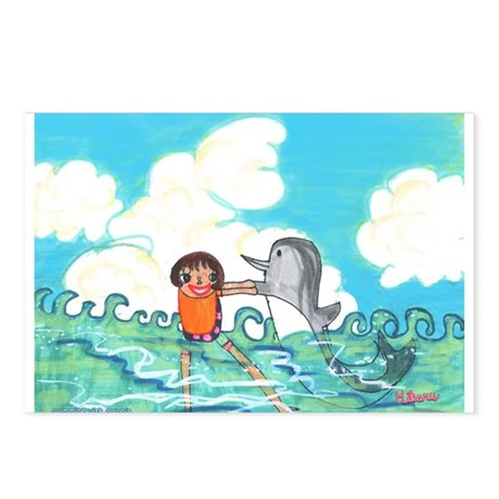 Hikaru's Swimming with Dolphin Postcards (Package