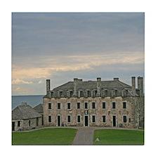French Castle At Ft Niagara Tile Coaster