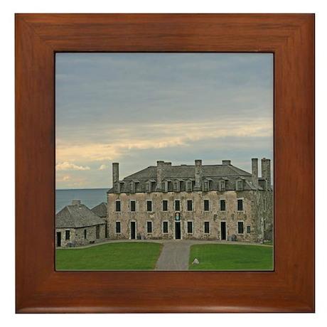 French Castle At Ft Niagara Framed Tile