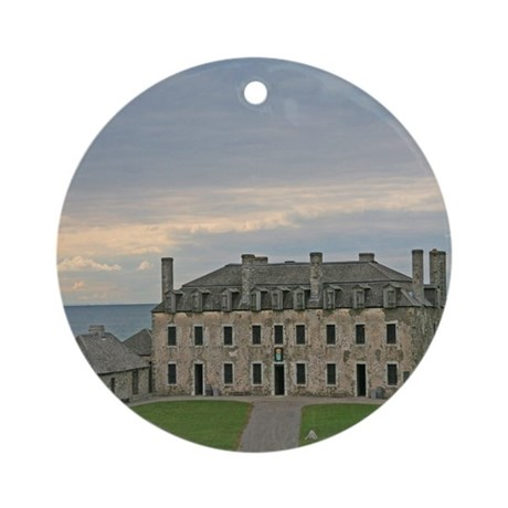 French Castle At Ft Niagara Ornament (Round)