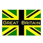 Black Union Jack Postcards (Package of 8)