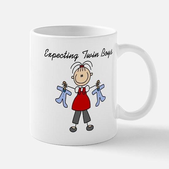 Expecting Twin Boys Mug