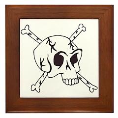 skull crossbones Framed Tile