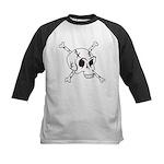 skull crossbones Kids Baseball Jersey