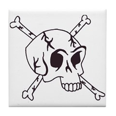 skull crossbones Tile Coaster