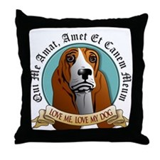 Love Me, Love My Dog - Basset Hound Throw Pillow