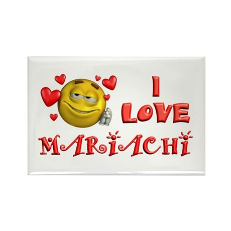 I Love Mariachi Rectangle Magnet