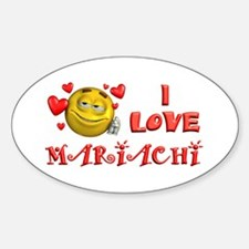 I Love Mariachi Oval Decal