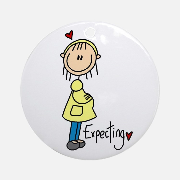 Expecting Baby Ornament (Round)